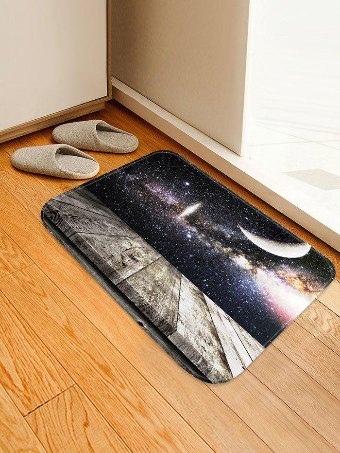 Affordable Milky Way Wood Grain Print Water Absorption Area Rug