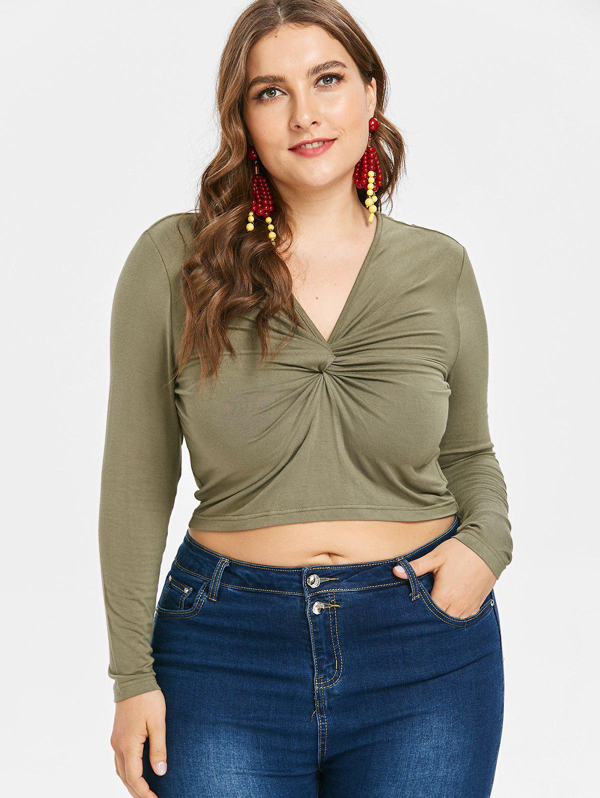 Buy Twist Plus Size Long Sleeve Top