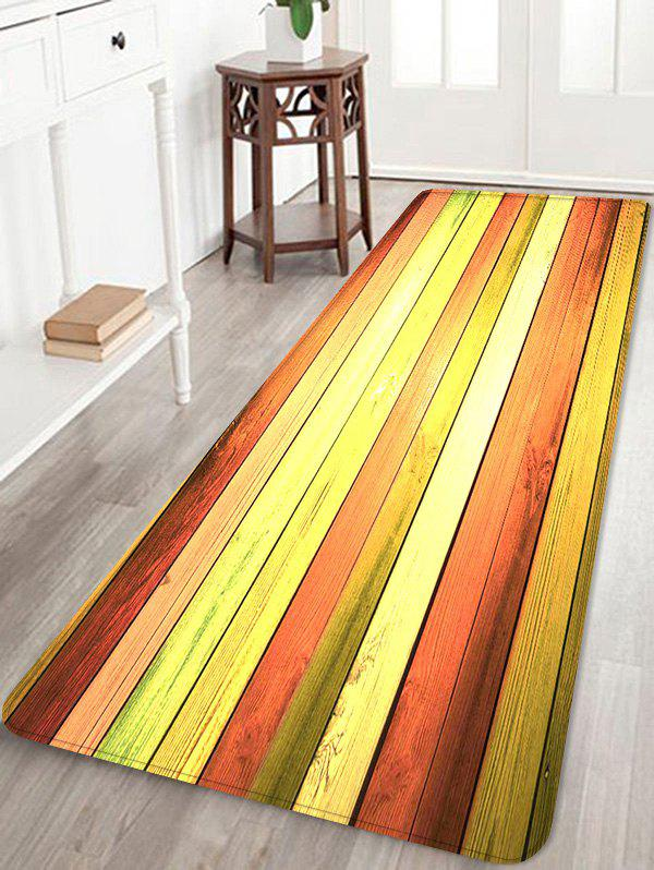Online Colorful Wood Flooring Pattern Water Absorption Area Rug