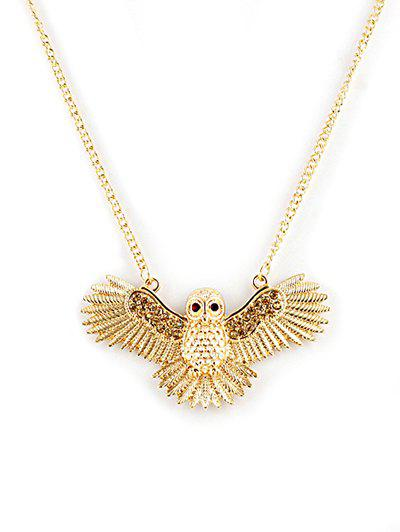 Buy Flying Owl Pattern Pendant Chain Necklace