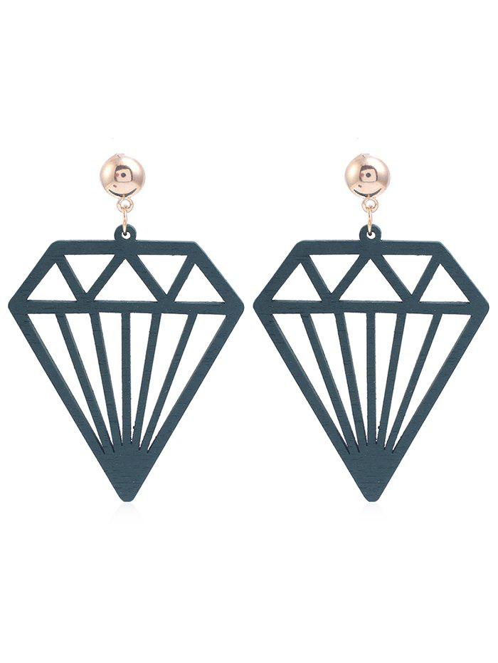 Store Hollow Out Diamonds Shaped Dangle Earrings