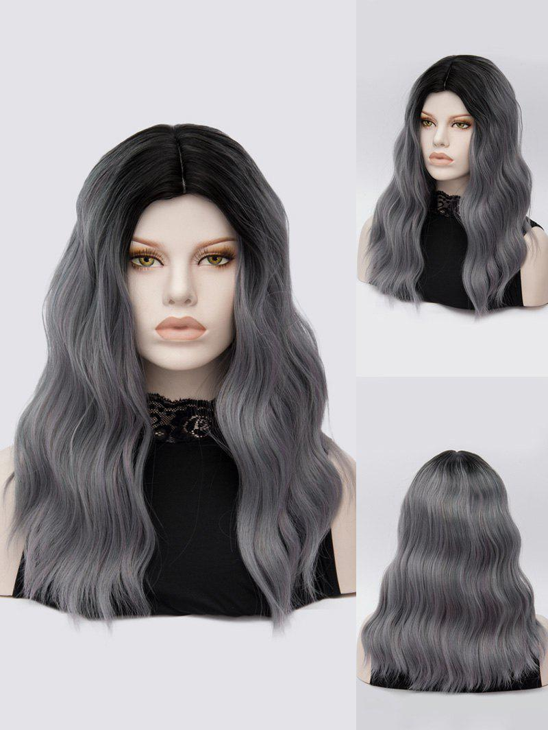 Best Long Middle Part Natural Wavy Colormix Synthetic Wig