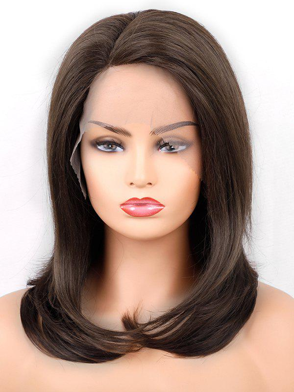 New Medium  Side Parting Straight Synthetic Lace Front Wig