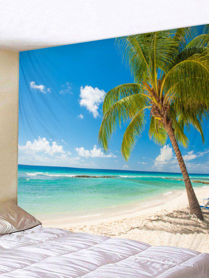 Trendy Beach Palm Print Tapestry Wall Art
