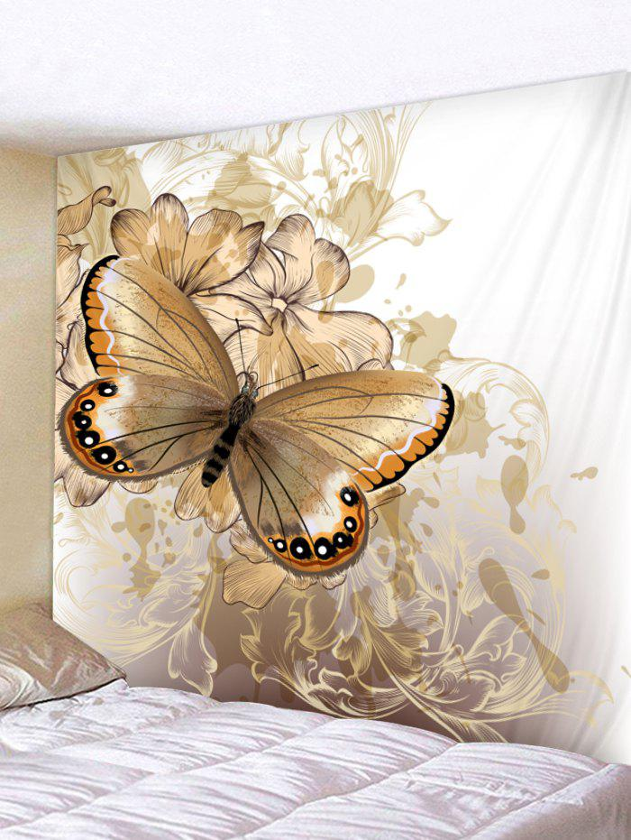 Outfit Wall Hanging Art Vintage Butterfly and Flowers Print Tapestry
