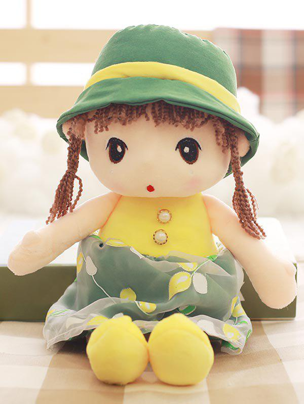 Shops Faux Pearl Dress Girl Shape Plush Toy