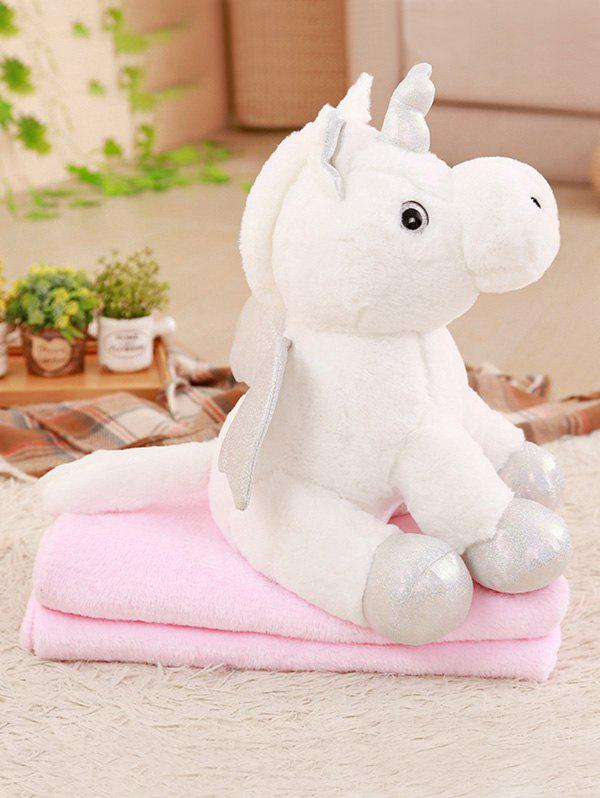 Cheap Unicorn Shape Plush Toy with Blanket