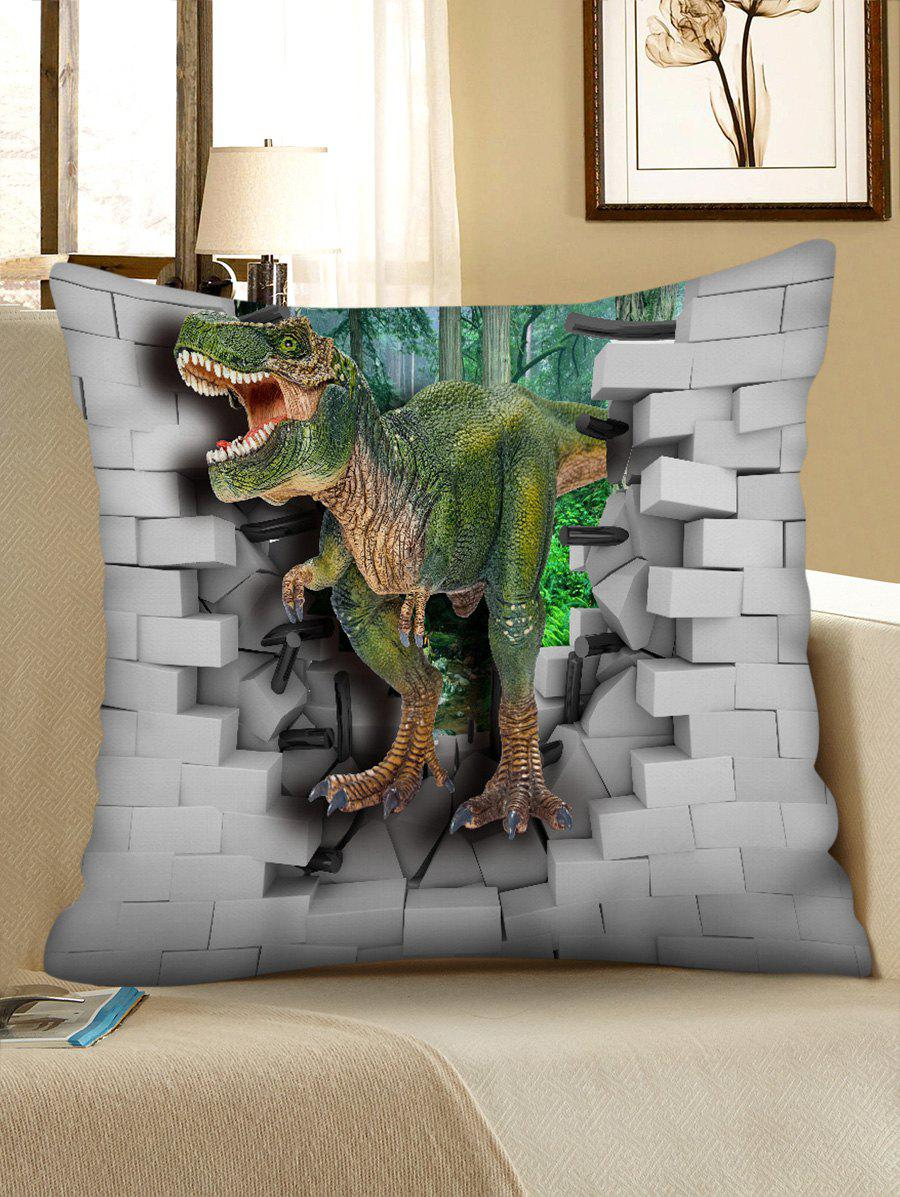 Outfit 3D Dinosaur Broken Wall Print Sofa Pillowcase