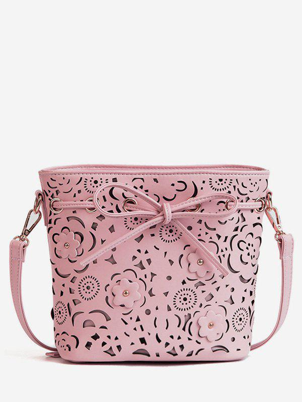 Hot Cut Out Leisure Floral Bowknot Daily Crossbody Bag