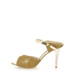 Peep Toe Crystals Plus Size Sandales à talons Stiletto -