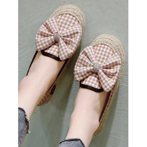 Bowknot Espadrille Plaid Outdoor Leisure Loafers -