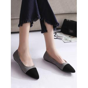 Flat Heel Pointed Toe Slip On Pumps -