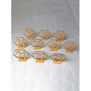 Number 21 to 40 Sign Wood Wedding Decoration Set -
