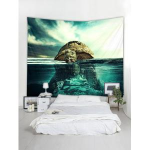 Swimming Turtle Print Tapestry Wall Art Decoration -
