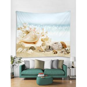 Conch Shell Beach Print Tapestry Wall Art -