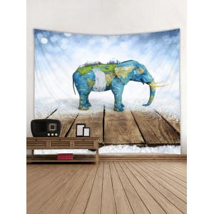 Carte Elephant Print Tapisserie Wall Art -
