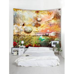 Planet Butterfly Print Tapestry Wall Art Decoration -