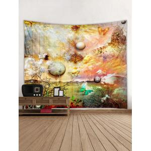 Planet Butterfly Print Tapisserie Wall Art Décoration -