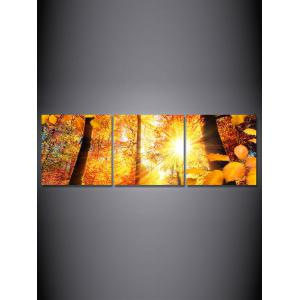 Autumn Sunshine Forest Printed Wall Art Canvas Paintings -
