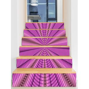Abstract Spiral Pattern PVC Stair Stickers -
