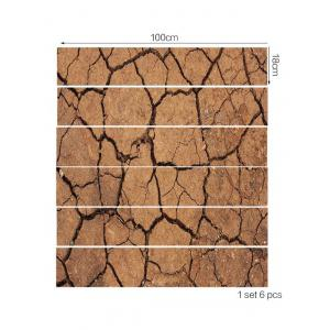 Dry Cracked Earth Print Stair Stickers -