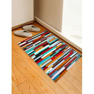 Colorful Wooden Printed Skidproof Area Mat -