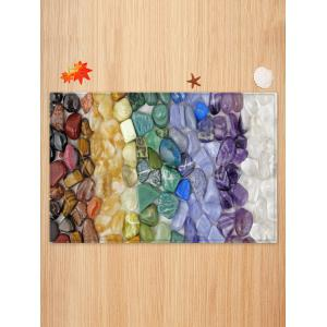 Colorful Stone Print Skidproof Area Mat -