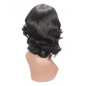 Medium Inclined Bang Wavy Capless Synthetic Wig -