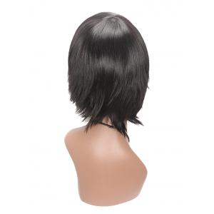 Short Oblique Bang Straight Capless Synthetic Wig -