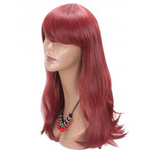 Long Side Bang Slightly Curly Party Synthetic Wig -