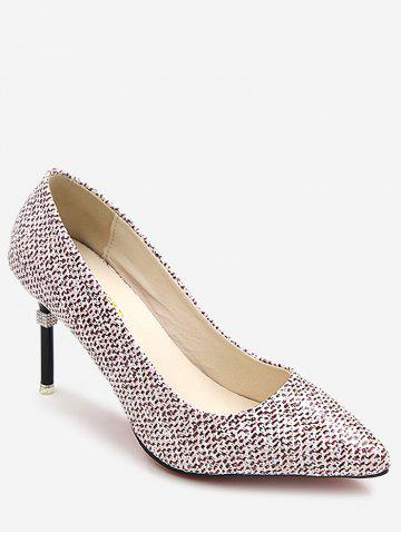 Fancy Leisure Patchwork Stiletto Heel Pointed Toe Pumps