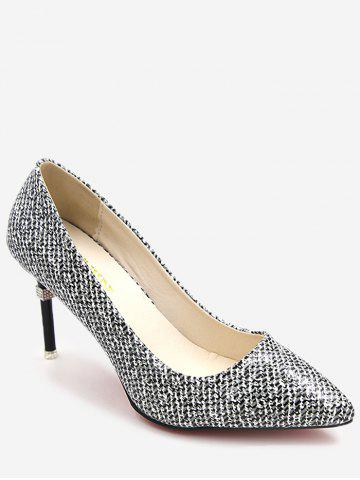 Buy Leisure Patchwork Stiletto Heel Pointed Toe Pumps