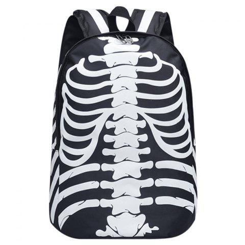 Shop Skull Striped Noctilucence Backpack