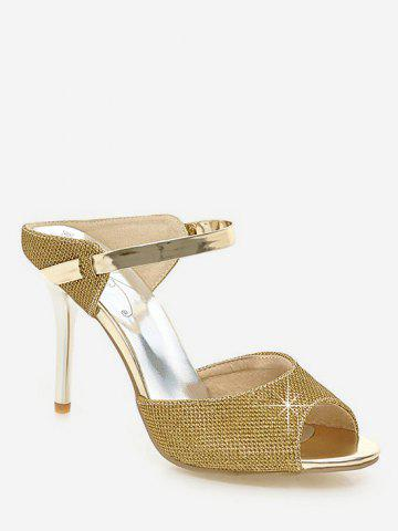 Affordable Plus Size Peep Toe Crystals Stiletto Heel Sandals