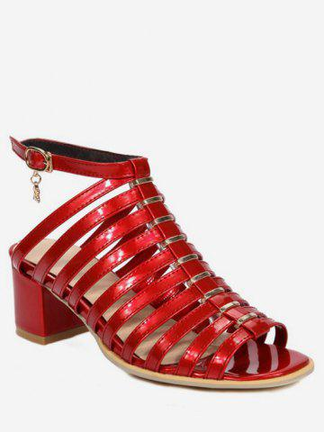 Discount Plus Size Casual Chunky Heel Strappy Ankle Strap Sandals