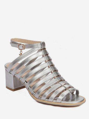 Online Plus Size Casual Chunky Heel Strappy Ankle Strap Sandals