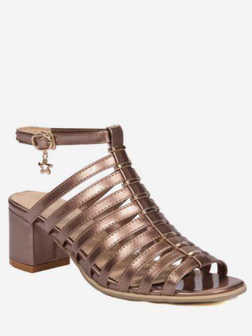 Shops Plus Size Casual Chunky Heel Strappy Ankle Strap Sandals