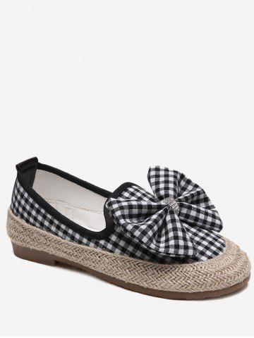 Buy Bowknot Espadrille Plaid Outdoor Leisure Loafers