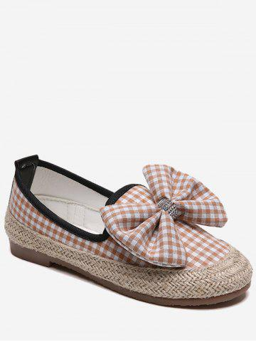 Hot Bowknot Espadrille Plaid Outdoor Leisure Loafers