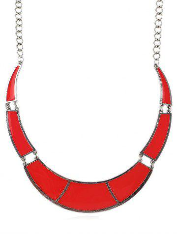 Affordable Geometric Shape Joint Pendant Chain Necklace