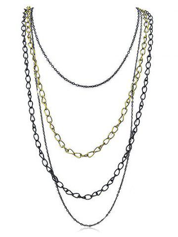 Trendy Simple Multi Strand Necklace