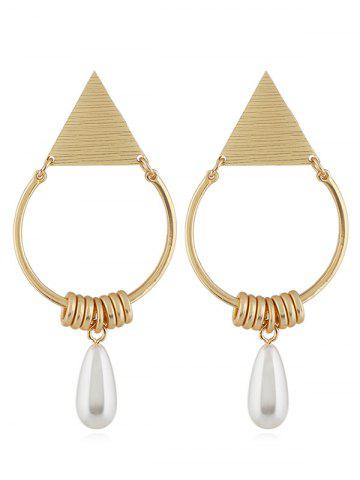 Outfit Geometric Artificial Pearl Pendant Earrings