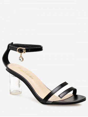 Best PU Leather Lucid Strap Mid Heel Pumps