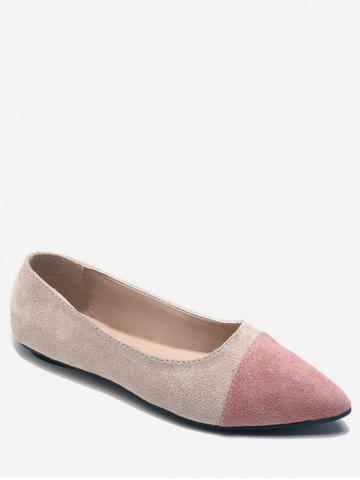 Hot Flat Heel Pointed Toe Slip On Pumps