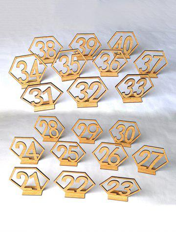 Latest Number 21 to 40 Sign Wood Wedding Decoration Set