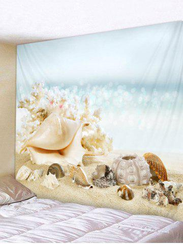 Conch Shell plage impression tapisserie Wall Art