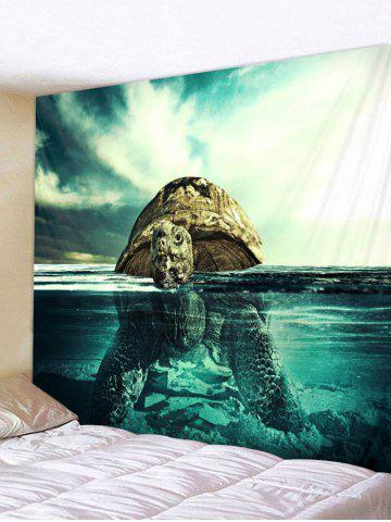 Best Swimming Turtle Print Tapestry Wall Art Decoration