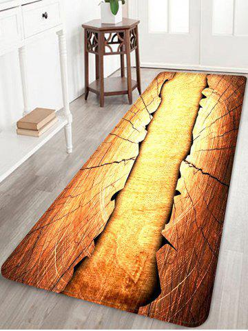 Unique Wooden Broken Print Skidproof Area Mat