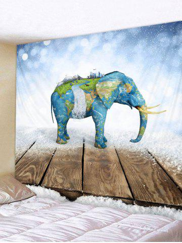 Carte Elephant Print Tapisserie Wall Art