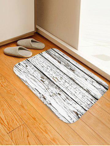 Fashion Peeling Wood Floor Print Water Absorption Area Rug